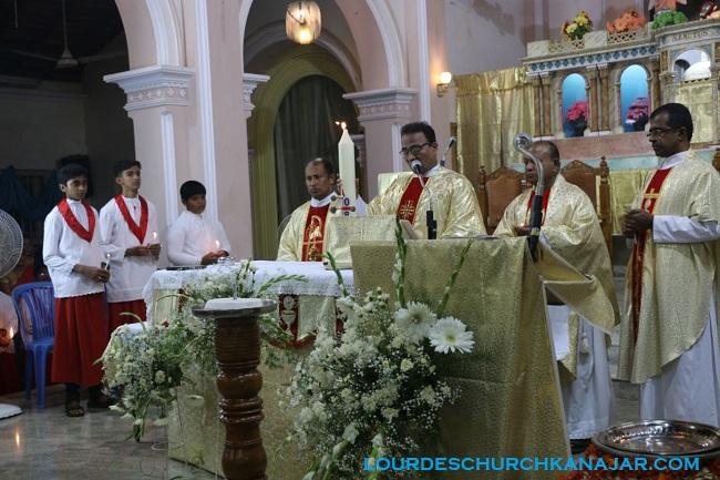 The Holy Saturday At Lourdes Church Kanajar